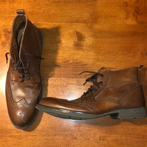 e4dda6a26c2c Stafford Shoes - JCPenney Stafford Gunners Wing Tipped Boots